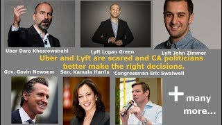 Download Uber and Lyft are scared.... and Politicians should not sell drivers out, they need our vote. Video