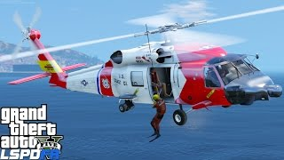 Download GTA 5 LSPDFR USCG Coastal Callouts  Helicopter Rescue With The Jayhawk United States Coast Guard Mod Video