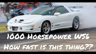 Download 1000 Horsepower Turbo LS1 Trans Am WS6 hits the track. Here's what it runs. Video