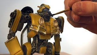 Download Bumblebee Made From Model Kit Parts - Timelapse Video