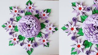 Download Wall Decoration Ideas | Beautiful Wall Hanging Making at Home | Paper Flower Wall Hanging 707 Video