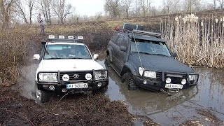 Download Toyota Land Cruiser 100 A/T 33'' vs Toyota Land Cruiser 100 M/T 37'' OFFROAD 4X4 Video