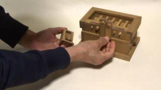 Download からくり箱の作り方など紹介。「からくり箱 石川工房」の作品説明用動画、賽銭箱2。 Video
