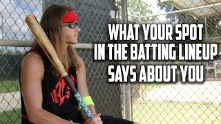 Download What Your Spot In The Batting Lineup Says About You Video