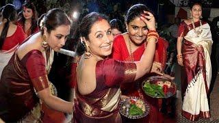 Download Rani Mukherjee in Traditional Saree at Durga Puja 2016 Video