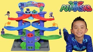 Download PJ Masks Nightime Adventures Spiral Playset Toys Unboxing Fun With Catboy Ckn Toys Video