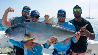 Download Amberjack Fishing Challenge - World Record Powerlifters vs NFL Linebacker - 4K Video