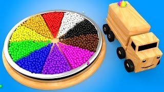 Download Learn Colors for Children with Wooden Color Wheel Educational Toys for Kids Toddlers Wooden Truck Video