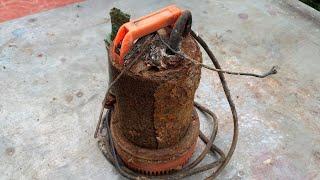 Download restoration super rusty old 12volt water pump |restore construction tools Video
