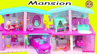 Download Shopkins Shoppies Happy Places Dream House Mansion with Car Garage + Surprise Blind Bags Video