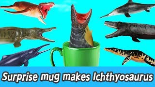 Download [EN] Surprise mug makes lchthyosaurus! kids counting numbers, dinosaurs names, collectaㅣCoCosToy Video