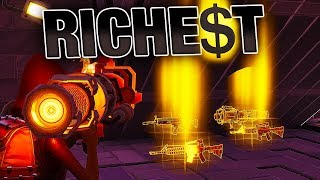 Download RICHEST Players give me BEST RARE Weapons! (POWER 130) | Fortnite Save the World Video