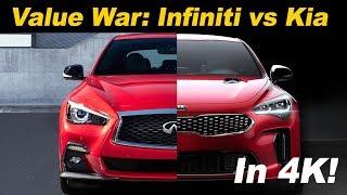 Download 2018 Kia Stinger GT vs 2018 Infiniti Q50 3.0t Sport | Head to Head comparison Video