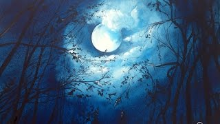 Download Watercolor Moonlight Painting Demonstration Video