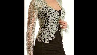 Download Bolero Calado tejido a crochet para expertas Video