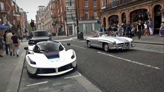 Download Amazing London supercars!! (P1, 918 Spyder, Bugatti, F12 TDF, LaFerrari, 3x Aventador SVs... Video