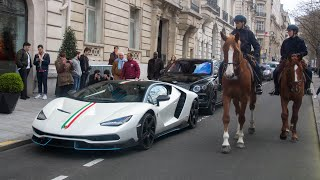 Download First Lamborghini Centenario on the road in Paris ( HD ) Video