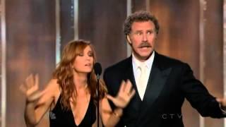 Download Will Ferrell & Kristen Wiig hilarious presenting speech @ 70th Annual Golden Globe Awards 2013 Video