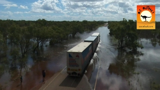 Download Extreme Trucks #6 - Oversize road trains in action on outback Australian flooded roads! Camhinoes Video