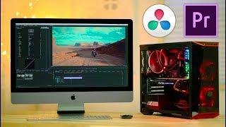 Download $1350 PC vs $5000 iMac PRO for Video Editing 😲 Premiere & Resolve Video
