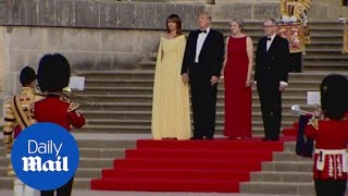 Download President Trump is welcomed to Blenheim Palace by Theresa May Video