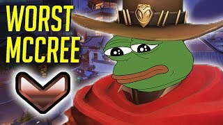 Download WORST McCREE IN THE WORLD! EPIC FAIL! - OVERWATCH WTF FUNNY MOMENTS MONTAGE! Video