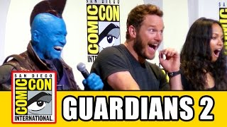 Download GUARDIANS OF THE GALAXY VOL. 2 Comic Con - Chris Pratt, Zoe Saldana, Karen Gillan, Dave Bautista Video