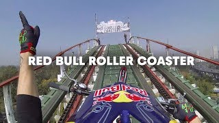 Download Trials Motorcycle on a Roller Coaster - Red Bull Roller Coaster Video