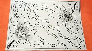 Download 87+ Gambar Sketsa Batik Bunga Mudah Gratis