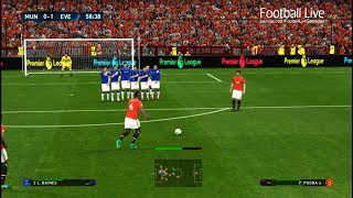 Download Manchester United vs Everton | P.POGBA free kick Goal & Full Match | PES 2017 Gameplay PC Video