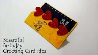 Download Beautiful Birthday Greeting Card Idea | DIY Birthday card | complete tutorial Video