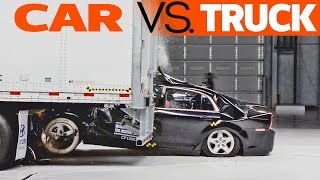 Download CRASHES: Car vs. Truck - trailer underride testing Video