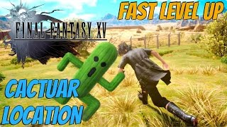 Download Final Fantasy XV - Cactuar Fight Location (How To Level Up Fast Early) Video