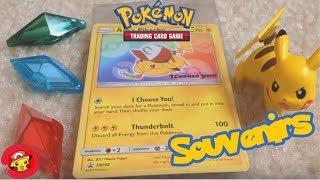 Download Pokémon the Movie: I Choose You! Souvenirs Unboxing (Ash's Pikachu Pokémon card and qr code) Video