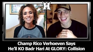 "Download Rico Verhoeven Says He'll KO Badr Hari At GLORY: Collision + ""Chopper"" Chi Isn't Ready For Him Video"