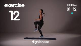 Download 5 min Cardio HIIT Workout for Fat Loss - 40s/20s Intervals - Home Workouts Video