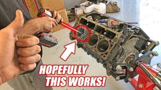 Download Dingleberry Honing the Auction Corvette's ″NEW″ Junkyard Truck Engine! *McFarland Machining* Video