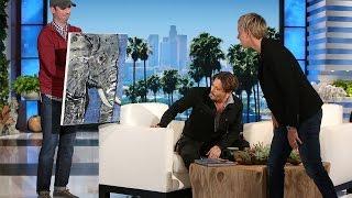 Download Johnny Depp's Beautiful Gift for Ellen Video