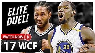 Download Kawhi Leonard vs Kevin Durant WCF Game 1 Duel Highlights (2017 Playoffs) Spurs vs Warriors - EPIC! Video