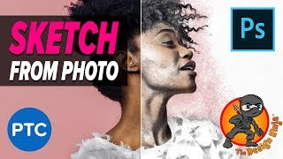 Download Pencil Sketch Effect From a Photo in Photoshop - The Design Ninja Guest Photoshop Tutorial Video