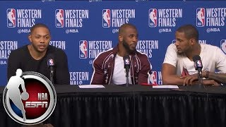 Download [FULL] Chris Paul, Eric Gordon and Trevor Ariza after Rockets' Game 2 win vs. Warriors | NBA on ESPN Video