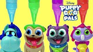 Download Disney Jr. PUPPY DOG PALS, Pals On a Mission Rolly, Bingo, Hissy, A.R.F. Bath Paint IRL / TUYC Video
