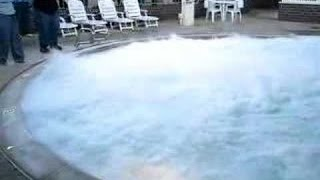 Download Pouring big chunk of sodium the pool - Explosion! Video