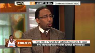Download ESPN First Take - Kevin Durant On Way to Becoming Greatest Scorer in NBA History Video