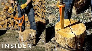 Download Tool Splits Wood More Safely Than An Ax Video