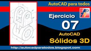 Download Ejercicio 07 - AutoCAD Solidos 3D Video