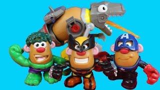 Download Rescue Bots Mr. Potato Head Hulk Wolverine Spider-man Captain America Video