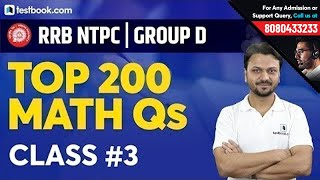 Download 10:00 PM : Top 200 Math Questions for RRB NTPC 2019 & RRB Group D | Class 3 | Quant by Vineet Sir Video