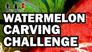 Download Watermelon Carving Challenge - Man Vs Corinne Vs Pin Video