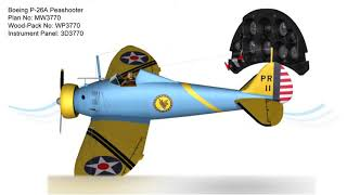 Download Boeing P-26A Peashooter RC Plan & Wood-Pack Video